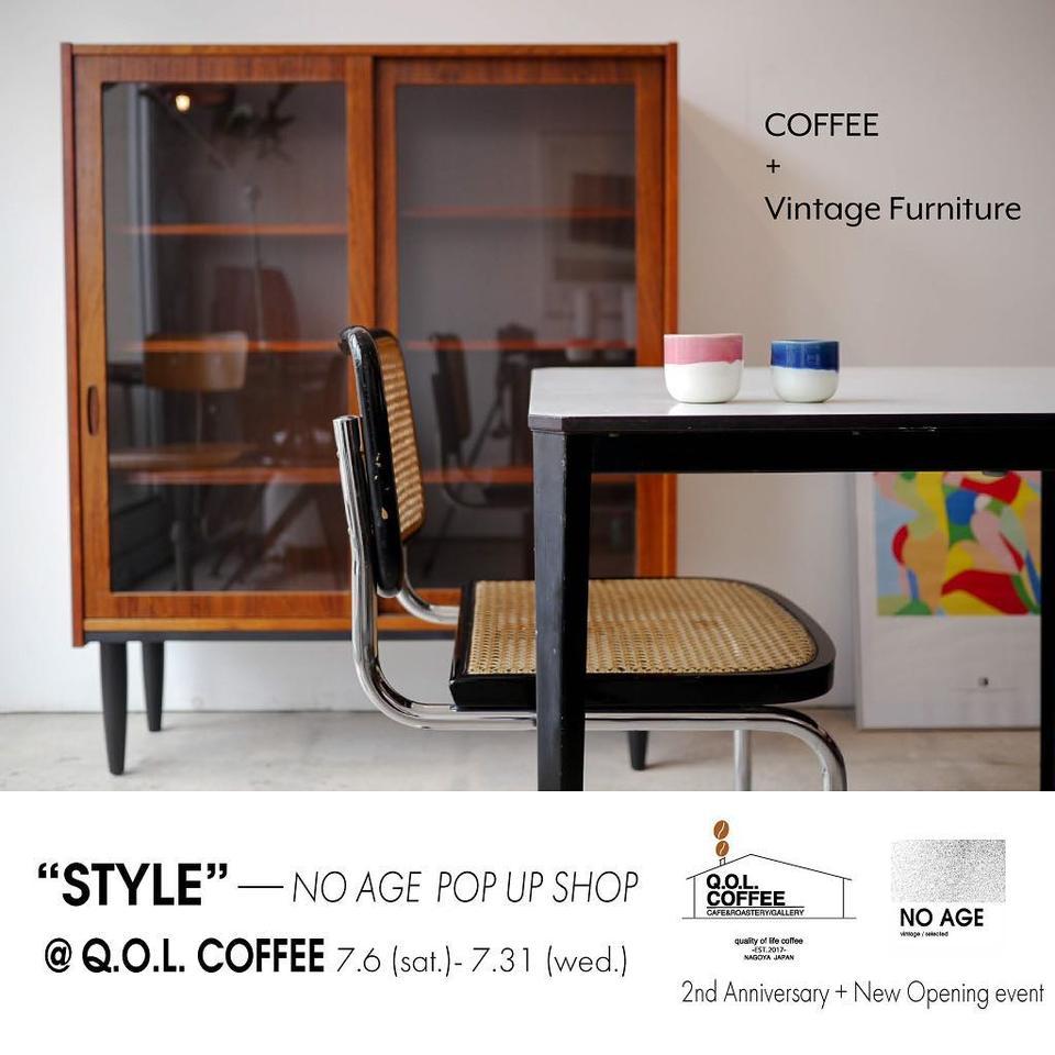 Q.O.L. COFFEE二周年×NO AGE実店舗オープン記念POP UP SHOP