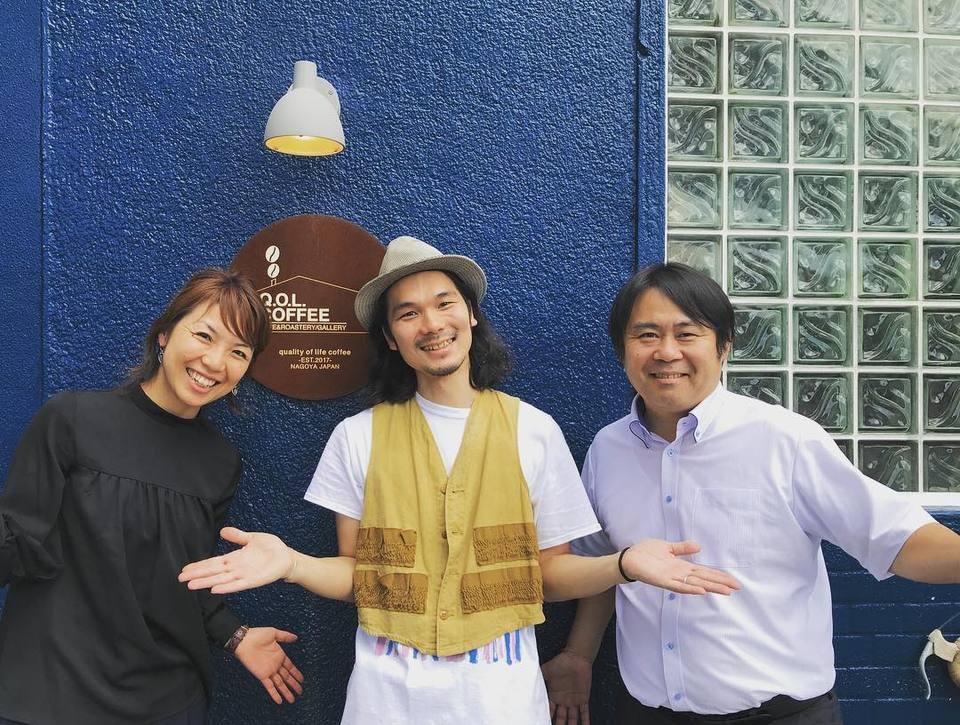 丸山珈琲社長と尾崎さん
