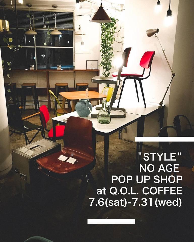 NO AGE POP UP SHOP at Q.O.L. COFFEE